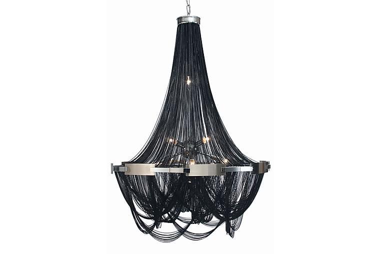 Storkedjan Noir Taklampe 10 Lys Svart/Sølv - AG Home & Light - Belysning - Innendørsbelysning & Lamper - Krystallkrone & takkrone
