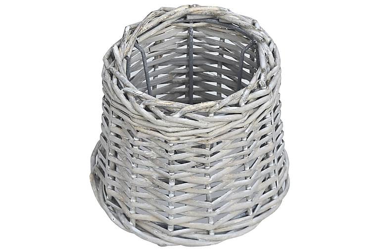 Lampeskjerm kurvstrå 25x17 cm brun - Brun - Belysning - Innendørsbelysning & Lamper - Lampeskjermer