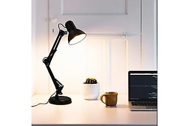 Bordlampe med justerbar arm svart E27