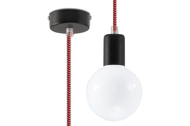 Edison Pendellampe Svart/Rød - Sollux Lighting - Belysning - Innendørsbelysning & Lamper - Taklampe
