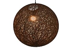 Hengelampe brun sfærisk 55 cm E27