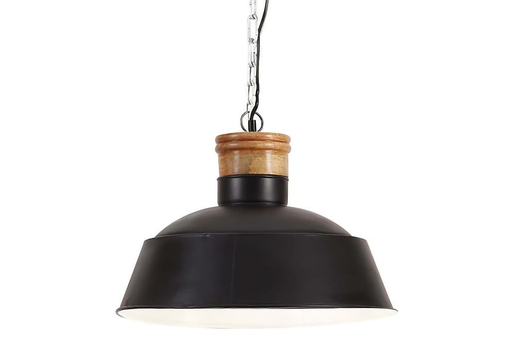 Industriell hengelampe 42 cm svart E27 - Svart - Belysning - Innendørsbelysning & Lamper - Taklampe