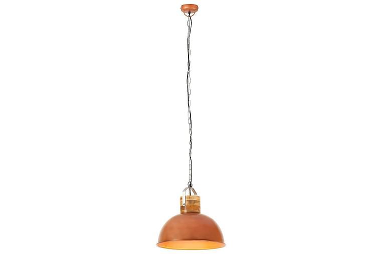 Industriell hengelampe kobber rund 42 cm E27 heltre mango - Belysning - Innendørsbelysning & Lamper - Taklampe