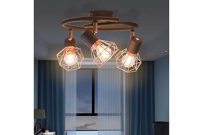 Jacoby Taklampe 3 LED-filamentpærer 12 W - Svart/Kobber - Belysning - Innendørsbelysning & Lamper - Taklampe