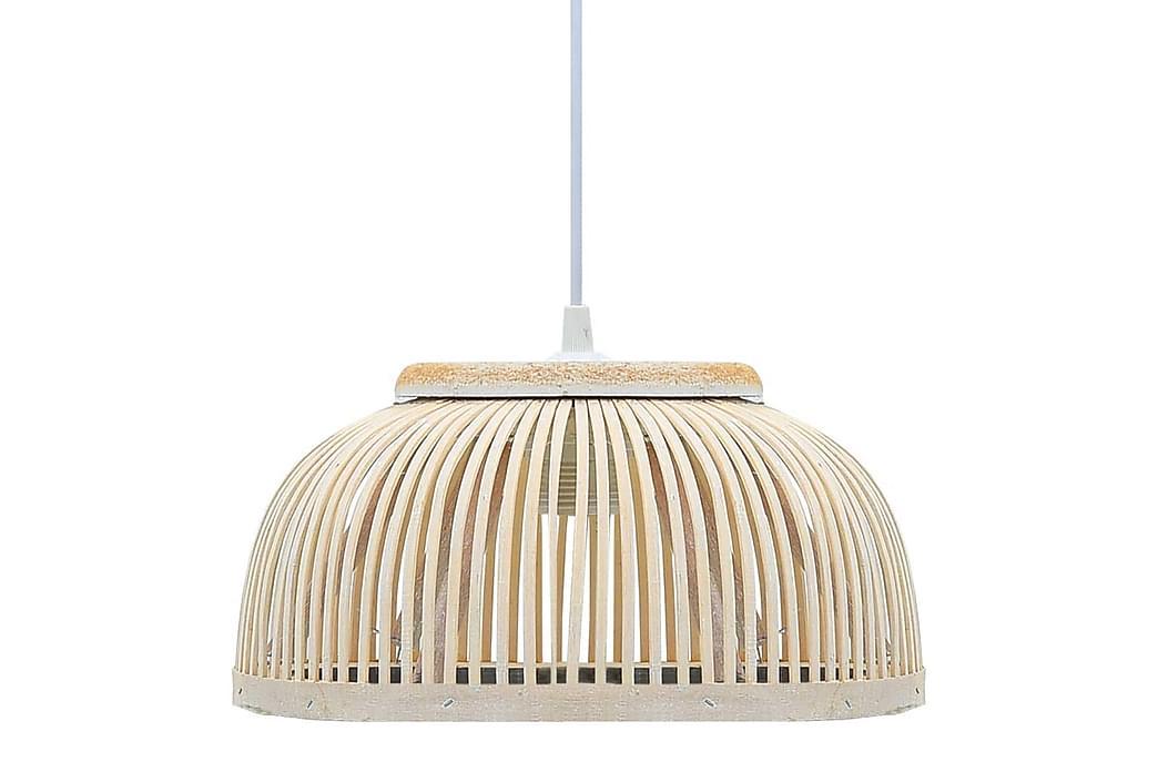 Pendellampe hvit selje 40 W 34x14,5 cm halvrund E27 - Belysning - Innendørsbelysning & Lamper - Taklampe