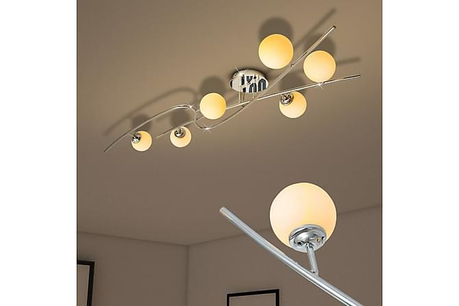 Plessis Taklampe til 6 G9 glødepærer 240 W - Hvit - Belysning - Innendørsbelysning & Lamper - Taklampe