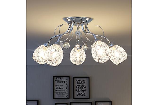Rodier Taklampe med 5 LED-glødepærer G9 200 W - Hvit - Belysning - Innendørsbelysning & Lamper - Taklampe