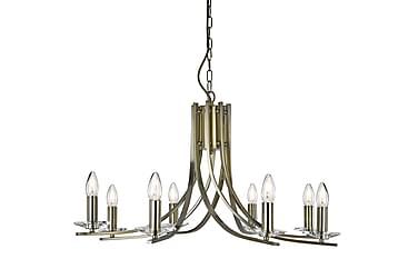 Ascona Plafond 8L Messing / Glass