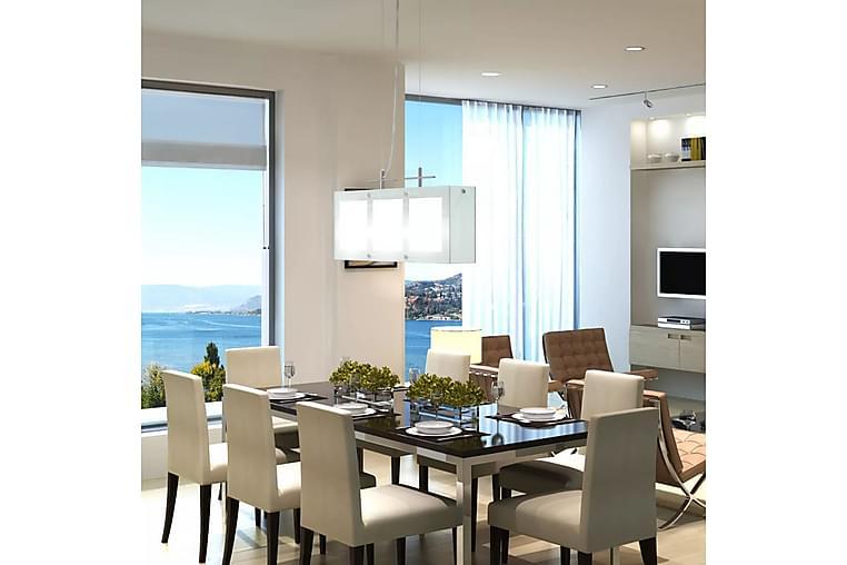 Spisebordslampe 3 x E14 Glass - Hvit - Belysning - Innendørsbelysning & Lamper - Taklampe