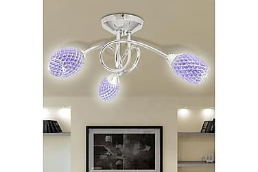 Cassar Taklampe 3 Lyspærer Kristall