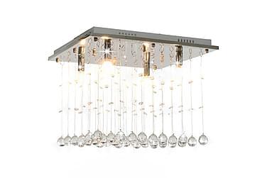 Taklampe med krystallperler sølv kubisk G9