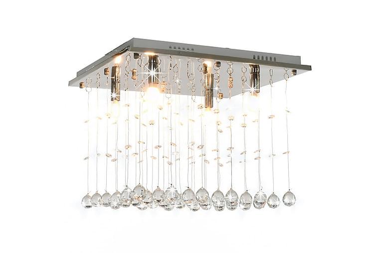 Taklampe med krystallperler sølv kubisk G9 - Silver - Belysning - Innendørsbelysning & Lamper - Taklampe