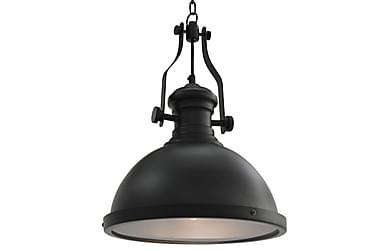 Taklampe svart rund E27