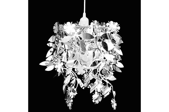 Moreau Taklampe 21,5x30 cm Rund Paljetter - Sølv - Belysning - Innendørsbelysning & Lamper - Krystallkrone & takkrone