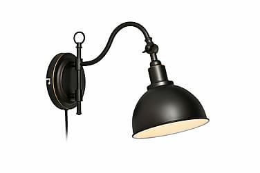 Ekelund Vegglampe Svartbrun