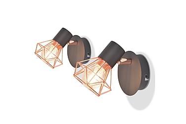 Jacoby Vegglampe LED-filamentlampe 8 W 2-pk