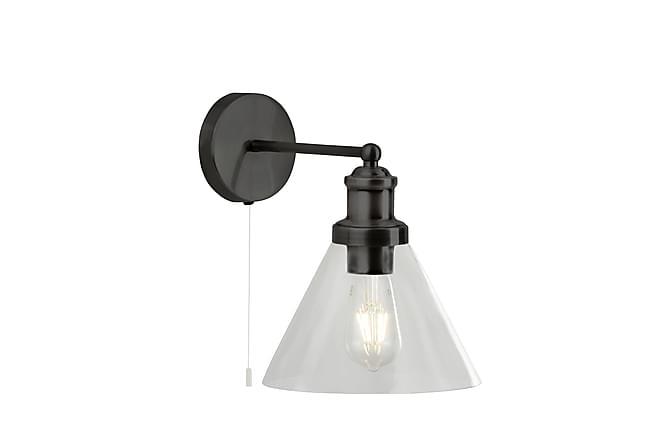 Pyramid Vegglampe Matt Svart / Glass - Searchlight - Belysning - Innendørsbelysning & Lamper - Vegglampe