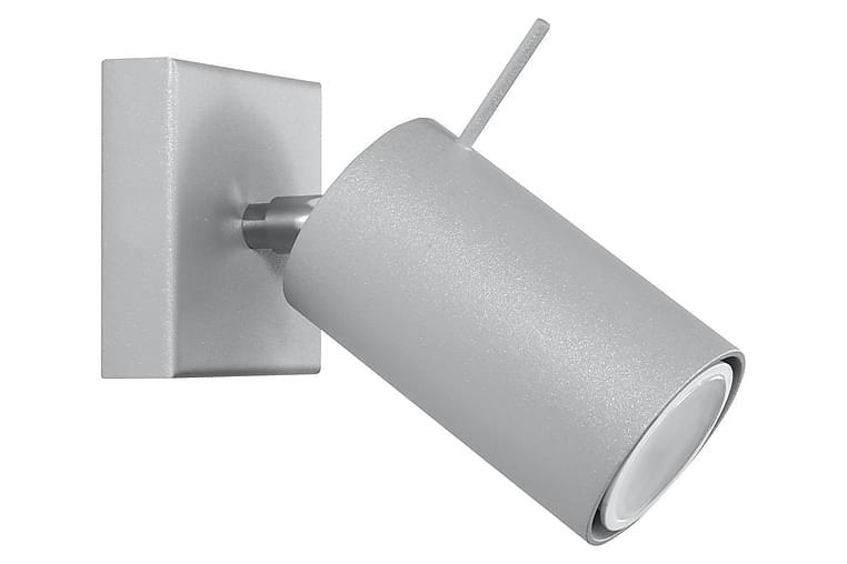 Ring Vegglampe Grå - Sollux Lighting - Belysning - Innendørsbelysning & Lamper - Vegglampe