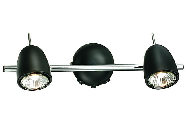 Tobo Veggspot 2L Krom/Svart - Markslöjd - Belysning - Innendørsbelysning & Lamper - Vegglampe