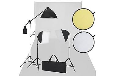 Fotostudiosett hvitt og svart