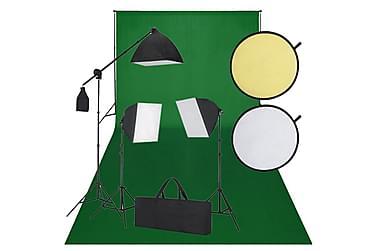Fotostudiosett svart og grønt