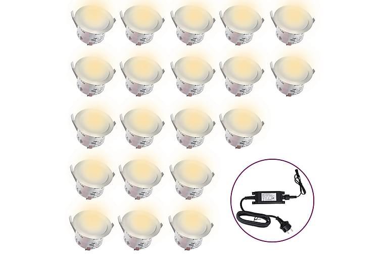 LED-bakkelys 20 stk varm hvit - Svart - Belysning - Utendørsbelysning - Markbelysning