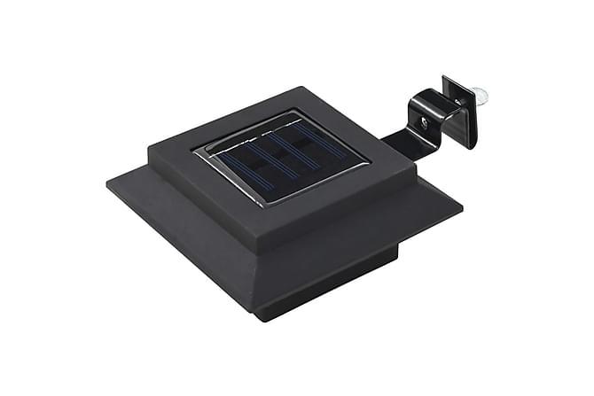 Utendørs sollampe 6 stk LED firkantet 12 cm svart - Belysning - Utendørsbelysning - Utelamper