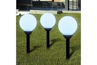 Drewes Markbelysning LED Solpanel 20 cm 3-pk