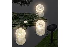 Flytende kulelys 3 stk LED soldrevet