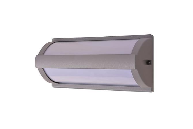 Grabner Vegglampe Oppover/Nedover - Lysegrå - Belysning - Utendørsbelysning - Utelamper