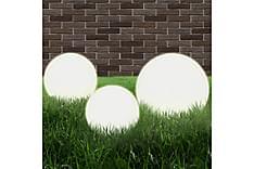 Lampesett LED 3 stykker sfærisk 20/30/40 cm PMMA