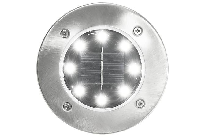 Soldrevet bakkelys 8 stk LED-lys hvit - Belysning - Utendørsbelysning - Utelamper