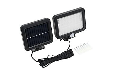 Soldrevet lampe med bevegelsessensor LED-lys hvit