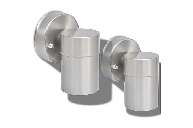 Werdin Vegglampe Nedover 2-pk - Sølv - Belysning - Utendørsbelysning - Utelamper