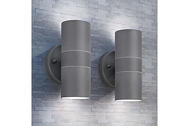 Werdin Vegglampe Oppover/Nedover 2-pk