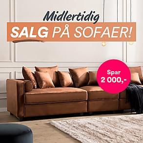 Midlertidig SALG på sofaer!