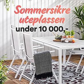 Sommersikre uteplassen - under 10 000,-