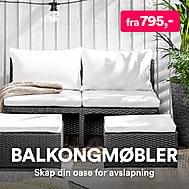 Balkongmøbler