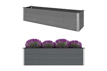 Blomsterkasse grå 200x50x54 cm WPC