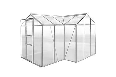 Drivhus aluminium 1 seksjon med hule paneler