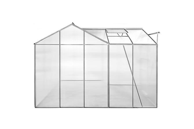Drivhus aluminium 1 seksjon med hule paneler - Hage - Dyrking & hagearbeid - Drivhus