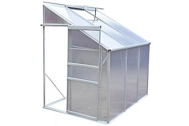 Drivhus aluminium 3 seksjoner