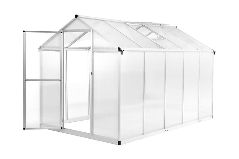 Drivhus aluminium 302x190x195 cm 11,19 m³ - Hage - Dyrking & hagearbeid - Drivhus