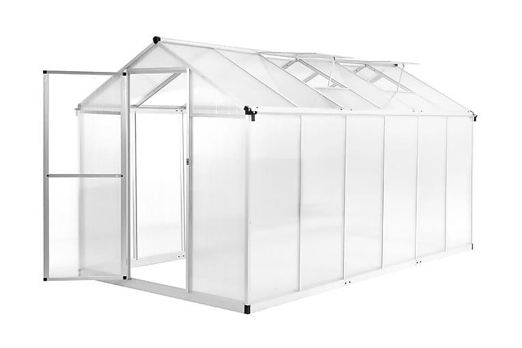 Drivhus aluminium 362x190x195 cm 13,41 m³ - Hage - Dyrking & hagearbeid - Drivhus