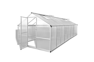 Drivhus aluminium 481x250x195 cm 23,44 m³