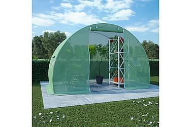 Drivhus med stålfundament 4,5m² 300x150x200 cm