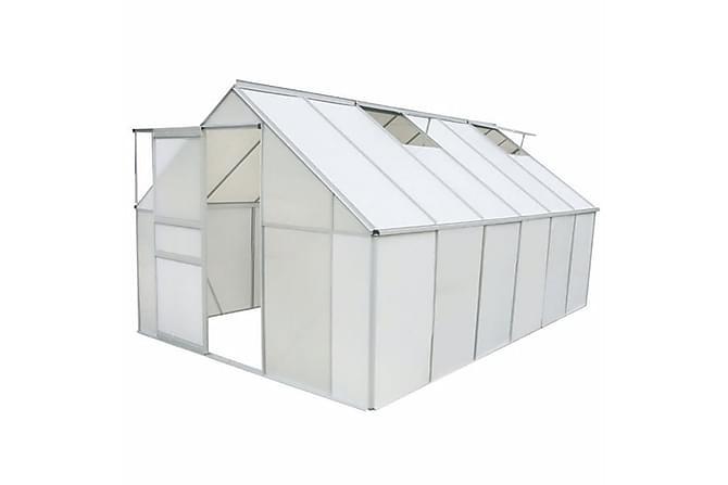 Drivhus polykarbonat og aluminium 430x250x195 cm - Hage - Dyrking & hagearbeid - Drivhus