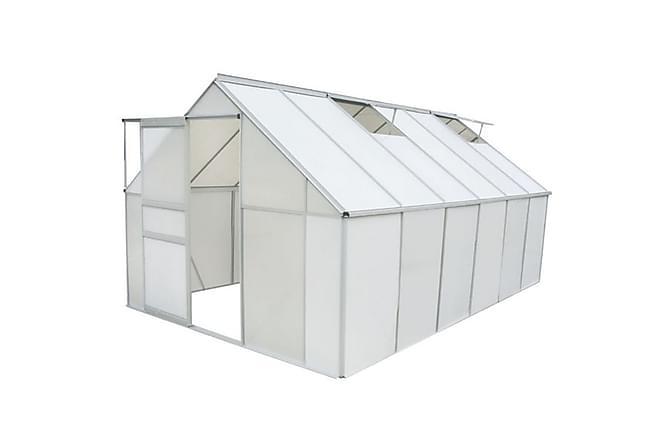 Drivhus polykarbonat og aluminium 490x250x195 cm - Hage - Dyrking & hagearbeid - Drivhus