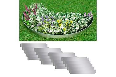 Gjerdekanter i galvanisert stål 100 x 15 cm sett 20-deler
