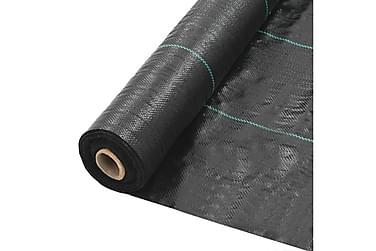 Kontrollmatte for ugress PP 1x25 m svart